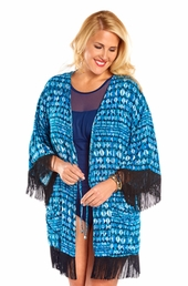 Plus Size Cover Ups Always For Me Cover Open Front Fringe Kimono