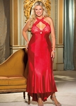 Women's Plus Size Lingerie - Charmeuse & Lace Cut Out Gown