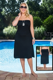 Plus Size Cover Ups Always For Me Cover Classic Convertible Skirt