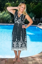 Plus Size Cover Ups Always For Me Cover Damask Inspired Dress