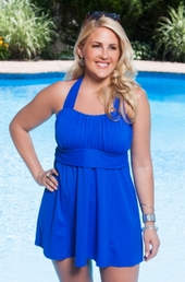 Always For Me In Control Salem 2 Pc Plus Size Swimdress #IO720 - Royal $89