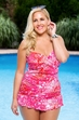 Women's Plus Size Swimwear - Always For Me Chic Prints Kiki Foil 2 Pc Tankini w/ Brief