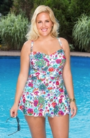 Always For Me Chic Elena Twist Bandeau Plus Size Swimsuit