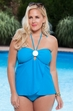 Always For Me Chic Medallion Plus Size Tankini Swimsuit