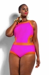 Monif C Cabo MonokinI Plus Size Swimsuit