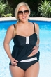 Always For Me Macrame Plus Size Underwire Tankini