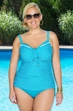 Plus Size Swimwear Coco Reef Separates Valley Dot Underwire Tankini Top