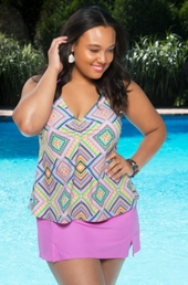 Plus Size Swimwear Always 4 Me Coco 2 Pc Skirtini