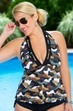 Women's Plus Size Swimwear - Always 4 Me Urban Camo Tankini