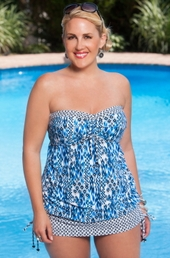 Always For Me Marilia 2 Pc Plus Size Tankini