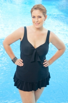 Always For Me Chic Berkeley Plus Size Swimdress