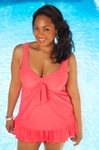 Women's Plus Size Swimwear - Always For Me Chic Solids - Berkeley Swimdress