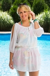 Women's Plus Size Swimwear - Always For Me Cover Drawstring Waist Tunic #1161X