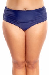 Plus Size Swimwear Always For Me Separates Palace Ruched Brief