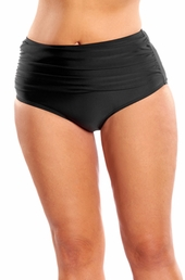Plus Size Swimwear Always For Me Separates Palace Ruched Brief - Black $39