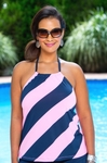 Women's Plus Size Swimwear - Anne Cole Separates Rugby Stripe Tankini Top