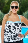 Beach House Separates Cocoa Beach Floral Blouson Tankini Top