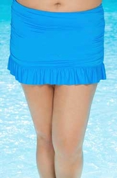 Plus Size Swimwear Beach House Separates Ruffled Skirt - #85077 - Cobalt $20