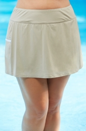 Plus Size Swimwear - Beach House Separates Skort w/ Pocket #42058 - Khaki $61