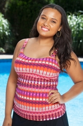 Plus Size Swimwear Christina Sky Gaze Tankini Top