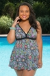 Plus Size Swimwear Fit 4U Morocco Framed Swim dress