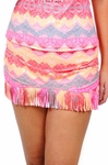 Plus Size Swimwear - Jessica Simpson Goa Fringe Skirted Bottom - NO RETURNS