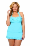Women's Plus Size Swimwear - Jessica Simpson Separates Ruffle Skirted Bottom
