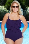 Women's Plus Size Swimwear - Longitude Meshing Around Swimsuit
