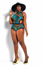 Plus Size Swimwear Monif C. Cabo 1 Pc Print Monokini #731 - Snake $68.60
