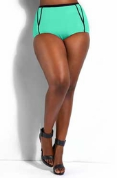 Plus Size Swimwear Monif C Santa Rosa Binkini Bottom #201503B - Mint $15