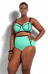 Plus Size Swimwear Monif C Santa Rosa Underwire Bikini Top #201503A - Mint $42