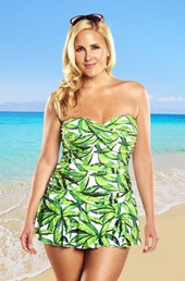 Always For Me Palm Party Plus Size Swimsuit