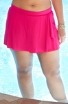Women's Plus Size Swimwear - Simply Sole' Separates Swim Skirt w/ Front Ruffle