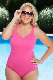 Plus Size Swimwear TYR Halter Controlfit 1 Pc #THT7A - Pink ON SALE $45