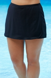 Plus Size Swimwear - TYR Separates Wrap Swim Skort