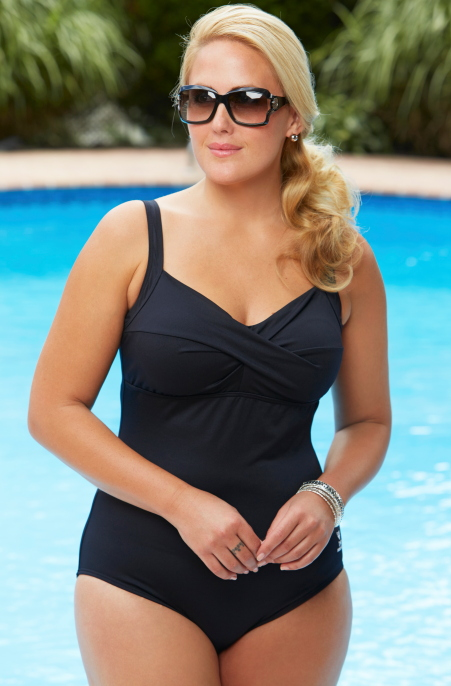 Plus Size Swimwear - TYR Twisted Bra Controlfit 1 Pc Swimsuit