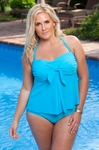 Women's Plus Size Swimwear - Always For Me Chic Solids  Manor Tankini