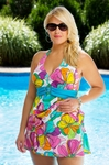 Always For Me Chic Prints Floreana Underwire  Plus Size Tankini