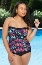 Plus Size Swimwear Always For Me Chic Prints Fortaleza Underwire Swimsuit