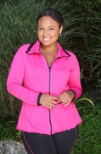 Plus Size Workout - Always For Me Active Micro Poly Mesh Jacket