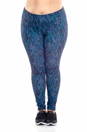 Plus Size Activewear Marika Curves Plus Uptown Reversible Leggings