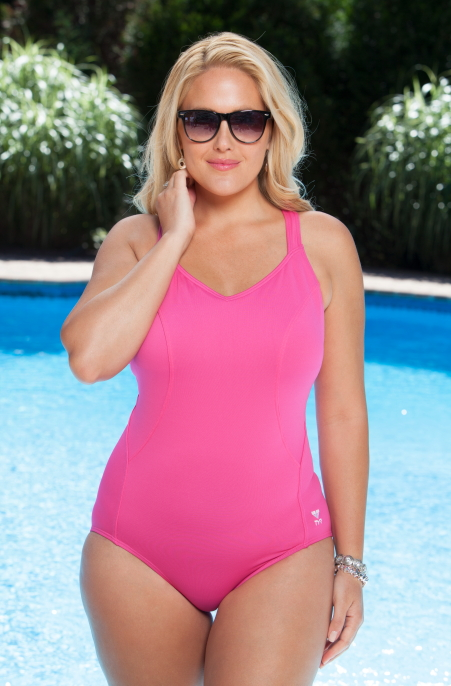Women's Plus Size Swimwear TYR Halter Controlfit 1 Pc Swimsuit