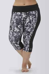 Women's Plus Size Activewear - Marika Curve Plus Framed Tummy Control Capri