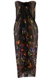 Women's Plus Size Cover Ups - Always For Me Cover Butterfly Kisses Pareo #5815 - Black $24