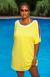 Women's Plus Size Cover Ups - Always For Me Cover Open Sleeve Tunic - NO RETURNS