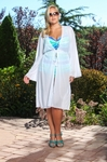 Women's Plus Size Cover Ups - Always For Me Cover Ruffle Tie Cover Up - NO RETURNS