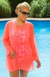 Women's Plus size Cover Ups - Always For Me Cover Sheer Mesh Swimwear Coverup #8000 - NEON ORANGE - $29.25