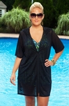 Women's Plus Size Cover Ups - Always For Me Cover Sheer Stripe Tunic