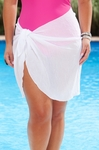 Women's Plus Size Cover Ups - Always For Me Cover Short Crinkle Pareo / Sarong - NO RETURNS
