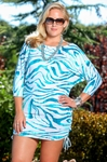 Women's Plus Size Cover Ups - Simply Sole' Safari Sari Cover Up